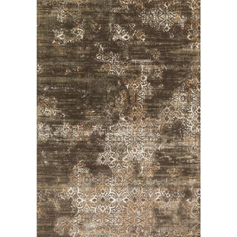 """Alexander Home Augustus Persian Inspired Distressed Area Rug - 6'7"""" x 9'2"""""""