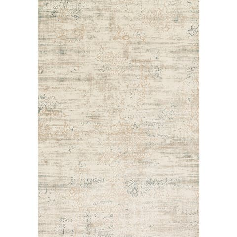 """Alexander Home Augustus Persian Inspired Distressed Area Rug - 2'7"""" x 3'9"""""""