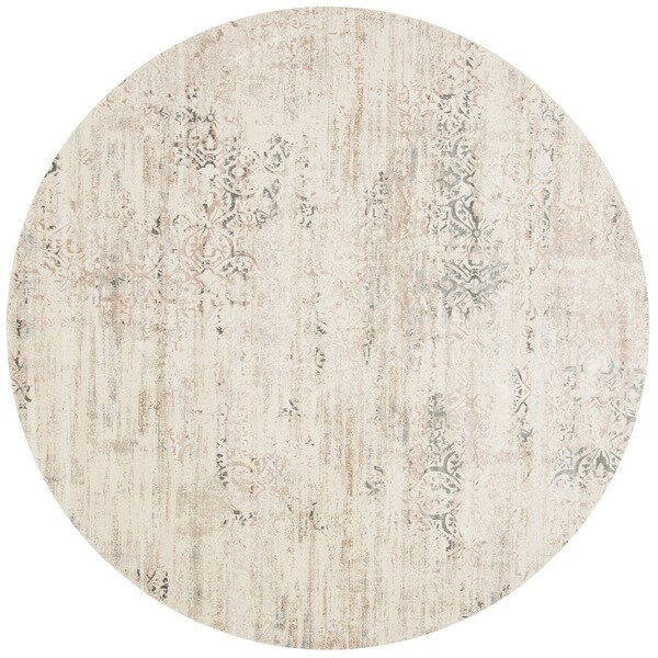 Augustus Ivory/ Stone Rug (7'10 x 7'10 Round)