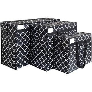 LeSac SUPER Lightweight Foldable Travel Bag Weekender Trip Bag 3 Size Gift Set (Vintage Print)