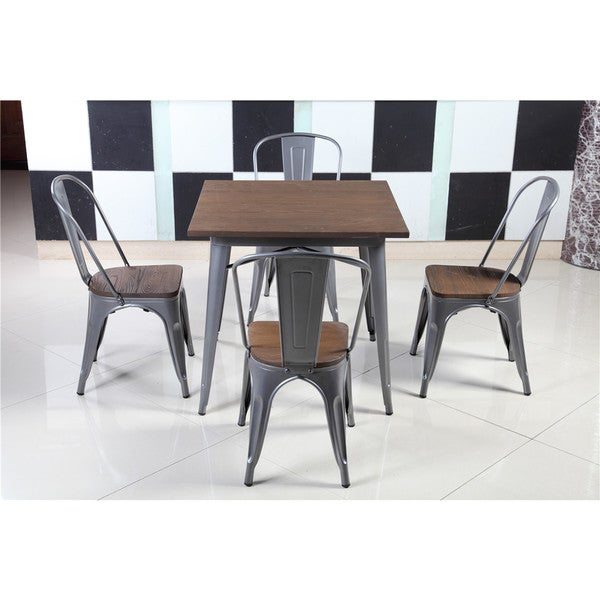 shop iron wood 33 5 inch industrial dining bar stool set of 4 on sale free shipping today. Black Bedroom Furniture Sets. Home Design Ideas
