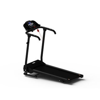 500W Folding Electric Treadmill Power Motorized Running Jogging - Black