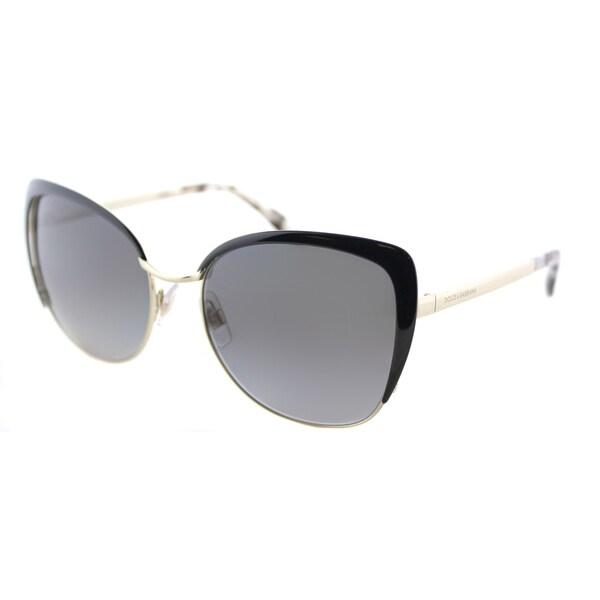 301805f309c Shop Dolce   Gabbana Women s DG 2143 488 T3 Pale Gold Black Frame ...