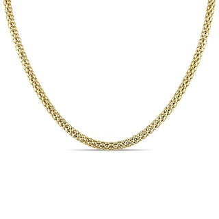 Miadora Signature Collection 18k Yellow Gold Mesh Link Necklace