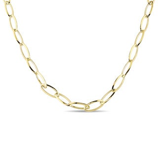 Miadora Signature Collection 18k Yellow Gold Oval Curb Link Necklace