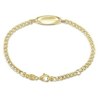 Miadora Signature Collection 18k Yellow Gold Children's Curb Link ID Bracelet