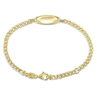 Miadora Signature Collection 18k Yellow Gold Children's Curb Link ID Bracelet