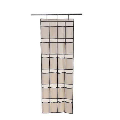 Ybmhome 24 Pocket Fabric Hanging Shoe Organizer 2207