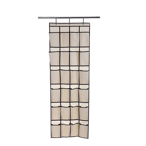 Ybmhome 24 Pocket Fabric Hanging Shoe Organizer 2207