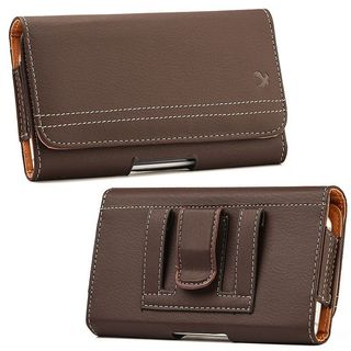 Insten Brown Leather Case Cover with Belt Clip/Wallet Flap Pouch For Samsung Galaxy Note
