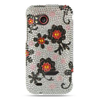 Insten Multi-Color Daisy Hard Snap-on Diamond Bling Case Cover For HTC Rezound / Vigor