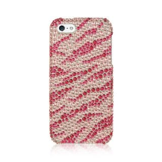 Insten Pink Zebra Hard Snap-on Rhinestone Bling Case Cover For Apple iPhone 5/5S