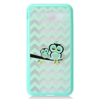 Insten Mint Green Clear Owl Ultra Slim Hard Snap-on Case Cover For Samsung Galaxy Amp Prime 2/J3 (2017)/J3 Emerge