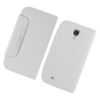 Insten White Leather Case Cover with Wallet Flap Pouch For Samsung Galaxy S4 GT-i9500