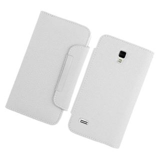 Insten White Leather Case Cover with Wallet Flap Pouch For LG Optimus L9 P769
