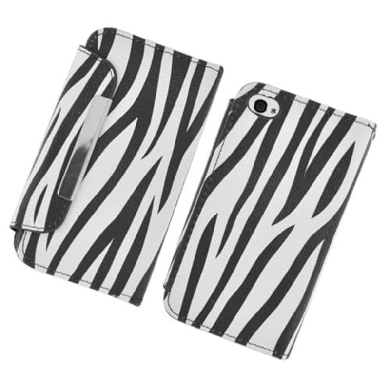 Insten Black/White Zebra Leather Case Cover with Wallet F...