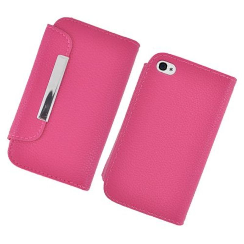 Insten Hot Pink Leather Case Cover with Wallet Flap Pouch...