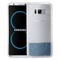 Insten Blue Quicksand Hard Snap-on Glitter Case Cover For Samsung Galaxy S8