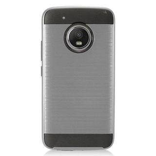 Insten Gray/  Black Chrome Hard Plastic Dual Layer Hybrid Brushed Case Cover For Motorola Moto G5 Plus