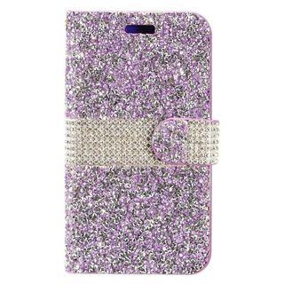 Insten Purple/  Silver Leather Rhinestone Bling Case Cover For Samsung Galaxy J7 (2017)/  J7 Perx/  J7 Prime/  J7 Sky Pro/  J7 V