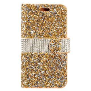 Insten Gold/  Silver Leather Rhinestone Bling Case Cover For Samsung Galaxy J7 (2017)/  J7 Perx/  J7 Prime/  J7 Sky Pro/  J7 V