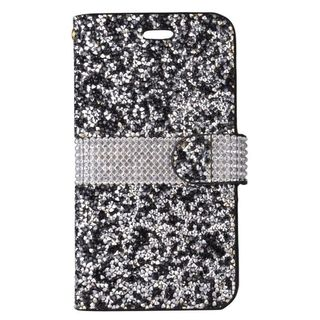 Insten Black/ Silver Leather Diamond Bling Case Cover For Samsung Galaxy J7 (2017)/ J7 Perx/ J7 Prime/ J7 Sky Pro/ J7 V