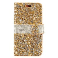 Insten Gold/  Silver Leather Rhinestone Bling Case Cover with Wallet Flap Pouch For Samsung Galaxy S8 Plus S8+