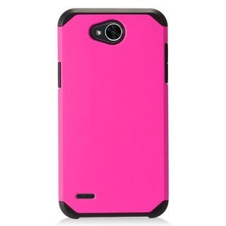 Insten Hot Pink Hard Snap-on Dual Layer Hybrid Case Cover For LG X Power 2