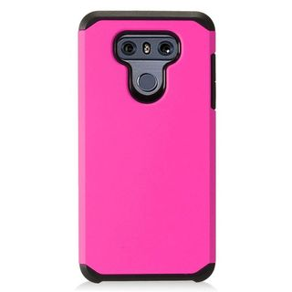 Insten Hot Pink Hard Snap-on Dual Layer Hybrid Case Cover For LG G6