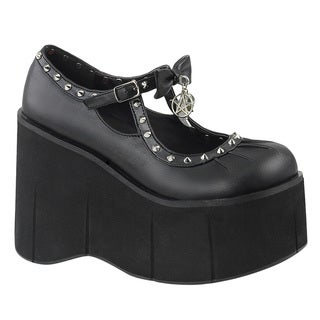 DEMONIA KERA-14 Women's Mary Jane Ankle Strap Platform Wedge Loafers