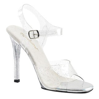PLEASER GALA-08MMG Women's Ankle Strap Peep Toe High Heel Sandals