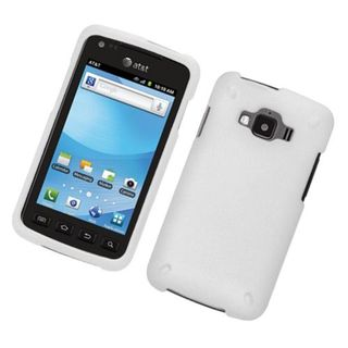 Insten White Hard Snap-on Rubberized Matte Case Cover For Samsung Rugby Smart SGH-i847