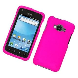 Insten Hot Pink Hard Snap-on Rubberized Matte Case Cover For Samsung Rugby Smart SGH-i847
