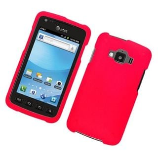 Insten Red Hard Snap-on Rubberized Matte Case Cover For Samsung Rugby Smart SGH-i847