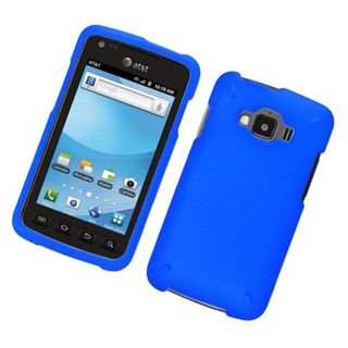 Insten Blue Hard Snap-on Rubberized Matte Case Cover For Samsung Rugby Smart SGH-i847
