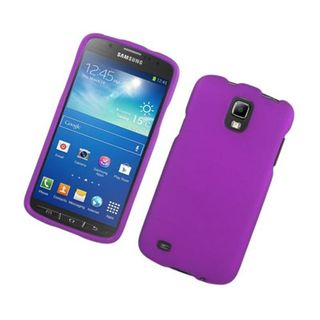 Insten Purple Hard Snap-on Rubberized Matte Case Cover For Samsung Galaxy S4 Active GT-I9295