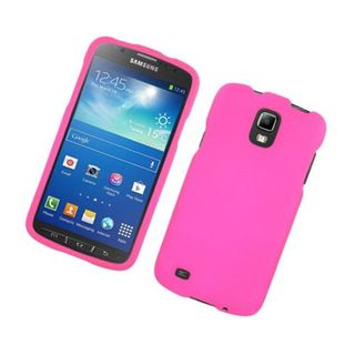 Insten Hot Pink Hard Snap-on Rubberized Matte Case Cover For Samsung Galaxy S4 Active GT-I9295