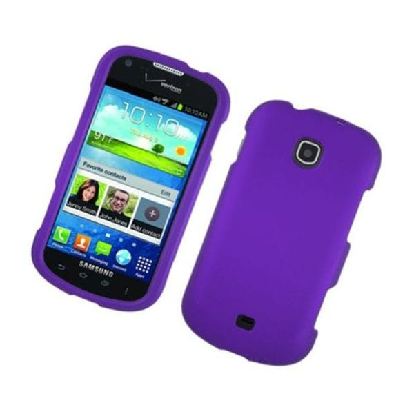 Insten Purple Hard Snap-on Rubberized Matte Case Cover For Samsung Galaxy Stellar 4G I200