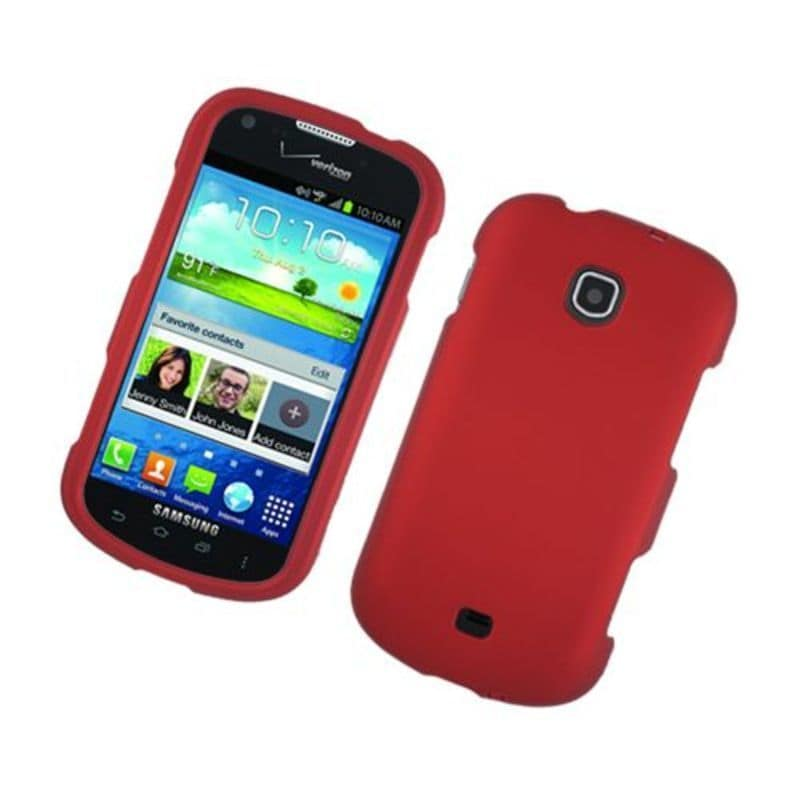 Insten Red Hard Snap-on Rubberized Matte Case Cover For S...