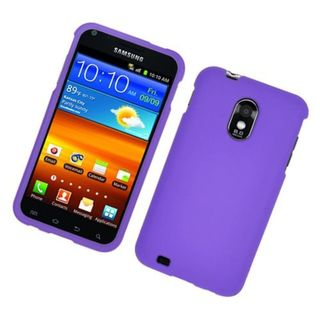Insten Purple Hard Snap-on Rubberized Matte Case Cover For Samsung Galaxy S2 Epic 4G Touch D710 Sprint