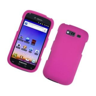 Insten Hot Pink Hard Snap-on Rubberized Matte Case Cover For Samsung Galaxy S Blaze 4G SGH-T769 (T-Mobile)
