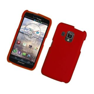 Insten Red Hard Snap-on Rubberized Matte Case Cover For Pantech Perception