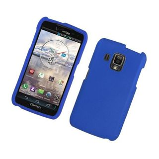 Insten Blue Hard Snap-on Rubberized Matte Case Cover For Pantech Perception