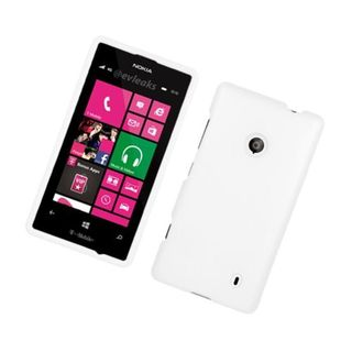 Insten White Hard Snap-on Rubberized Matte Case Cover For Nokia Lumia 521