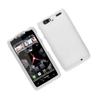 Insten White Hard Snap-on Rubberized Matte Case Cover For Motorola Droid Razr Maxx