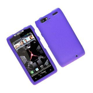 Insten Purple Hard Snap-on Rubberized Matte Case Cover For Motorola Droid Razr Maxx