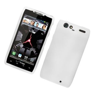Insten White Hard Snap-on Rubberized Matte Case Cover For Motorola Droid Razr XT912