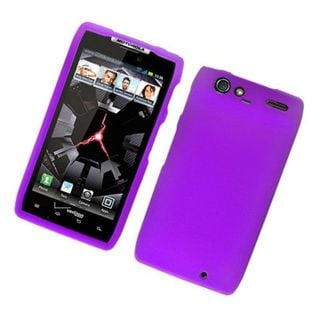 Insten Purple Hard Snap-on Rubberized Matte Case Cover For Motorola Droid Razr XT912
