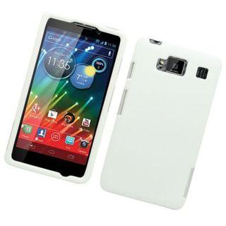 Insten White Hard Snap-on Rubberized Matte Case Cover For Motorola Droid Razr Maxx HD