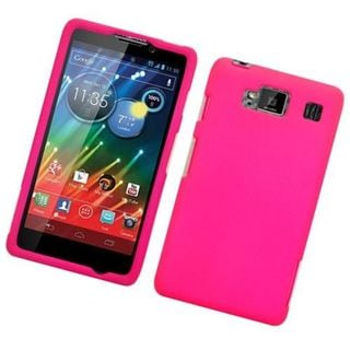 Insten Hot Pink Hard Snap-on Rubberized Matte Case Cover For Motorola Droid Razr Maxx HD